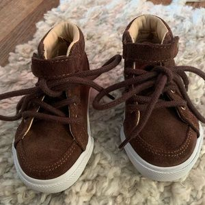 Janie and Jack Brown Suede Sneakers - Toddler Boy